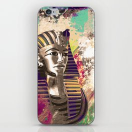 King Tut  Mask Abstract composition iPhone Skin