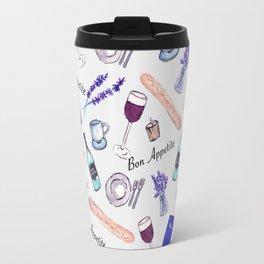 Bon Appetite in white Travel Mug