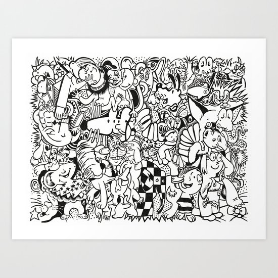 Coloring Page For Literacy Art Print