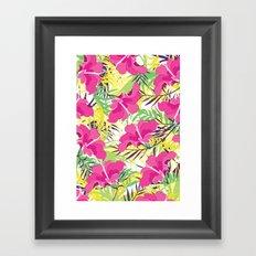 Tropic flowers Framed Art Print
