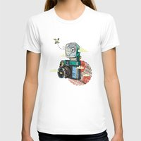 vintage camera T-shirts featuring Camera by dmirilen