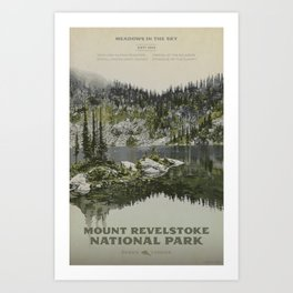 Mount Revelstoke National Park Art Print