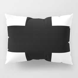 Black Swiss Cross Pillow Sham