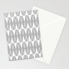 Mid Century Modern Diamond Pattern Gray 234 Stationery Cards