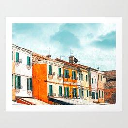 Burano Island #painting #digitalart #travel Art Print
