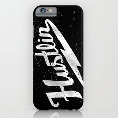 Hustlin - Black background with white image iPhone 6s Slim Case