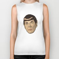 spock Biker Tanks featuring Spock by Mimi