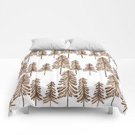 Pine Trees – Sepia Palette Comforters