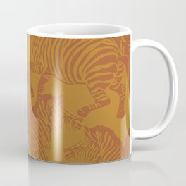 Zebra Stampede in Goldenrod + Mud Coffee Mug