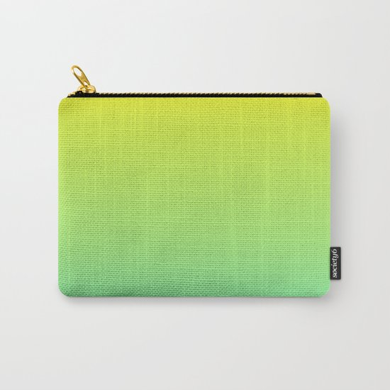Ombre gradient illustration yellow blue green colors Carry-All Pouch