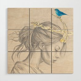 Glimmering gold crown Wood Wall Art