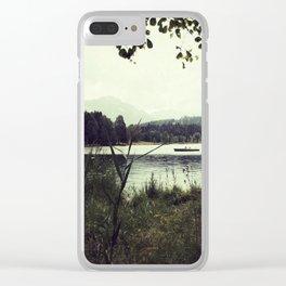 Alpine Lake Clear iPhone Case