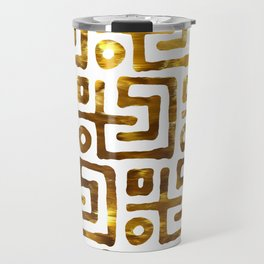 Elegant abstract geometrical gold tribal pattern Travel Mug