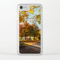 Crazy Fall Clear iPhone Case