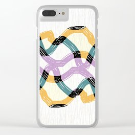 Weave abstract art Clear iPhone Case
