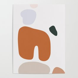 Abstract Shape Series - Boulders Poster