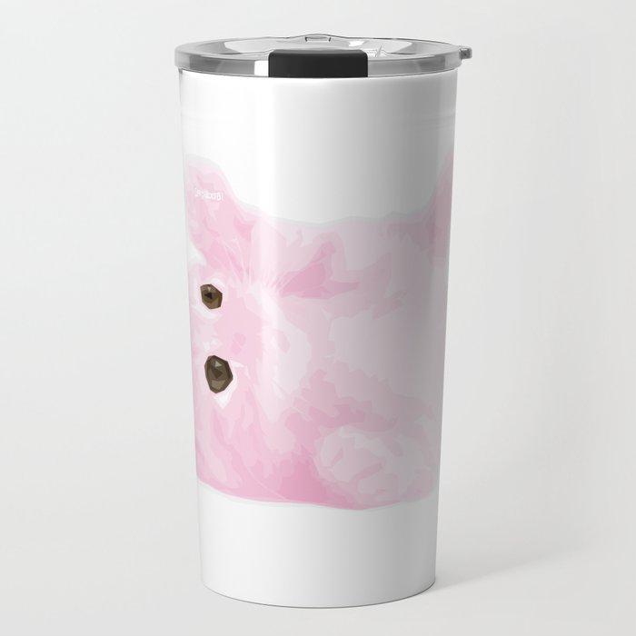 Light Pink Kitty Travel Mug