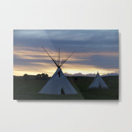 Teepee Dreams Metal Print
