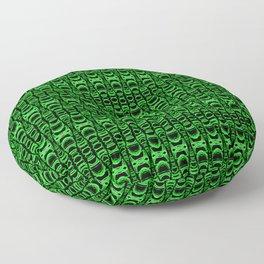 Dividers 07 in Green over Black Floor Pillow