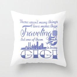 Traveling Gigi Throw Pillow