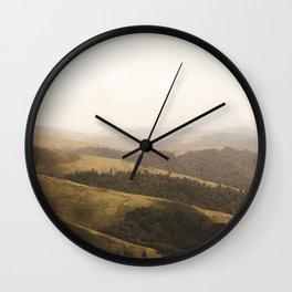 mountain layers Wall Clock