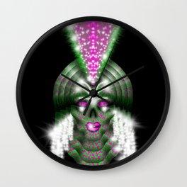 Mowhawk Skull 3 Wall Clock