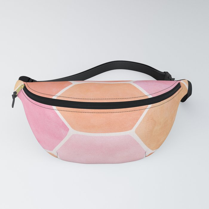 Desert Mood Hexagon Print Fanny Pack