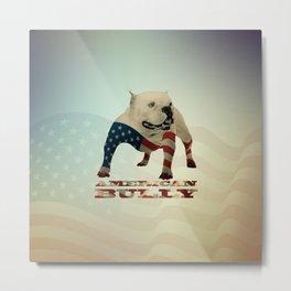 American Bully Metal Print