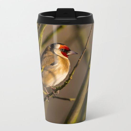 Goldfinch Metal Travel Mug
