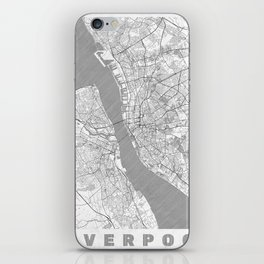 Liverpool Map Line iPhone Skin