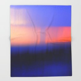 Abstract Sunset Throw Blanket