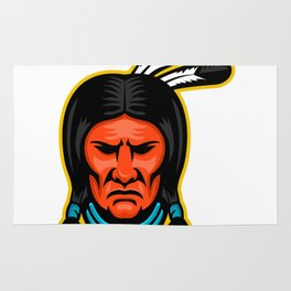 Sioux Chief Sports Mascot Rug