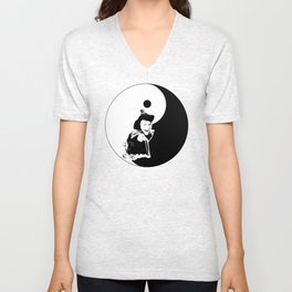 Dad..., you BAD ASS! ;) YINYANG version - LIFE CURRENT series... Unisex V-Neck