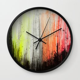 Trees in Neon Wall Clock