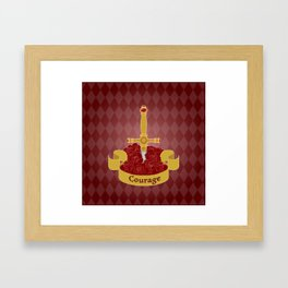 Sword of Courage Framed Art Print