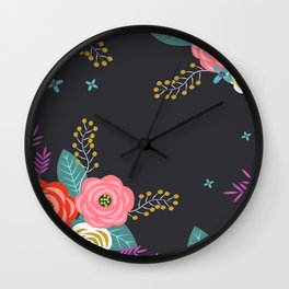 Flower design Wall Clock