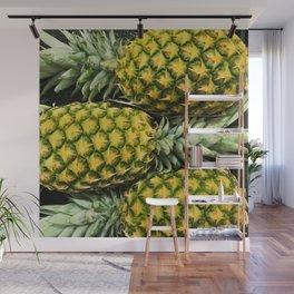 Horizontal Hawaiian Pineapples Wall Mural