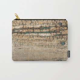 Rustic Wood Turquoise Paint Weathered and Aged to perfection Carry-All Pouch