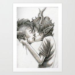 Kiss Goodbye Art Print
