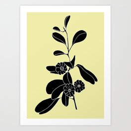 Goat's Foot (also known as Mauve Convolvulus, Beach Potato Vine, and Morning Glory) - Ipomoea pes-ca Art Print