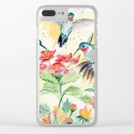 Hummingbird Party Clear iPhone Case