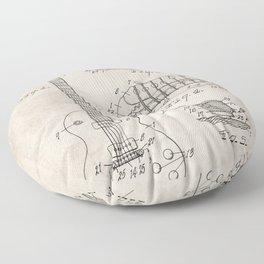 Gibson Guitar Patent - Les Paul Guitar Art - Antique Floor Pillow