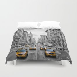 5th Avenue NYC Traffic Duvet Cover
