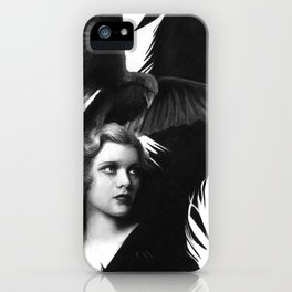 Lady and the Raven iPhone Case