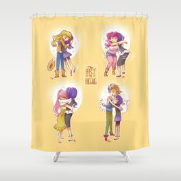 The Art of Hugging Shower Curtain