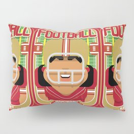 American Football Red and Gold - Hail-Mary Blitzsacker - Indie version Pillow Sham