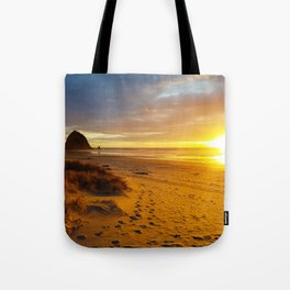 Cannon Beach Oregon at Sunset Haystack Rock Tote Bag