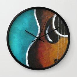 Smiling Guitar Wall Clock