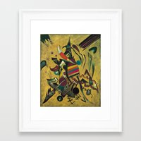 kandinsky Framed Art Prints featuring Wassily Kandinsky 1920 Points by Artlala for MSF Doctors Without Borders