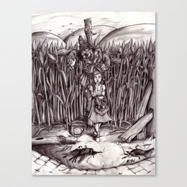 The Scarecrow Gets His Brain Canvas Print